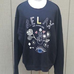 "Sandro Paris ""Relax and Enjoy Life "" sweatshirt"